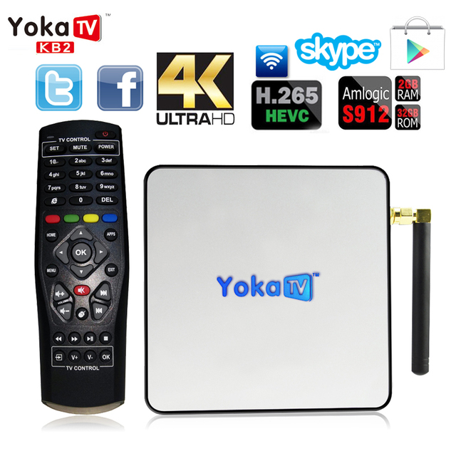 KB1 YOKATV/S912 KB2 4 K UHD Smart TV Box Amlogic Android 6.0 Octa Núcleo Bluetooth Wi-fi 4.0 2 GB RAM 16 GB/32 GB ROM Media Player