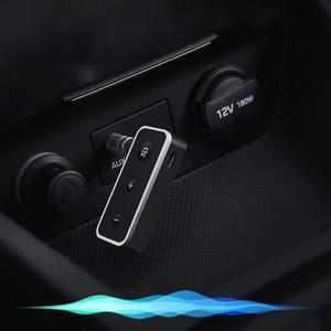 Image 3 - Bluetooth 5.0 מקלט לרכב מוסיקת סטריאו 3.5mm AUX שקע Hifi אודיו אלחוטי דיבורית מתאם עבור אוזניות רמקול עם מיקרופון