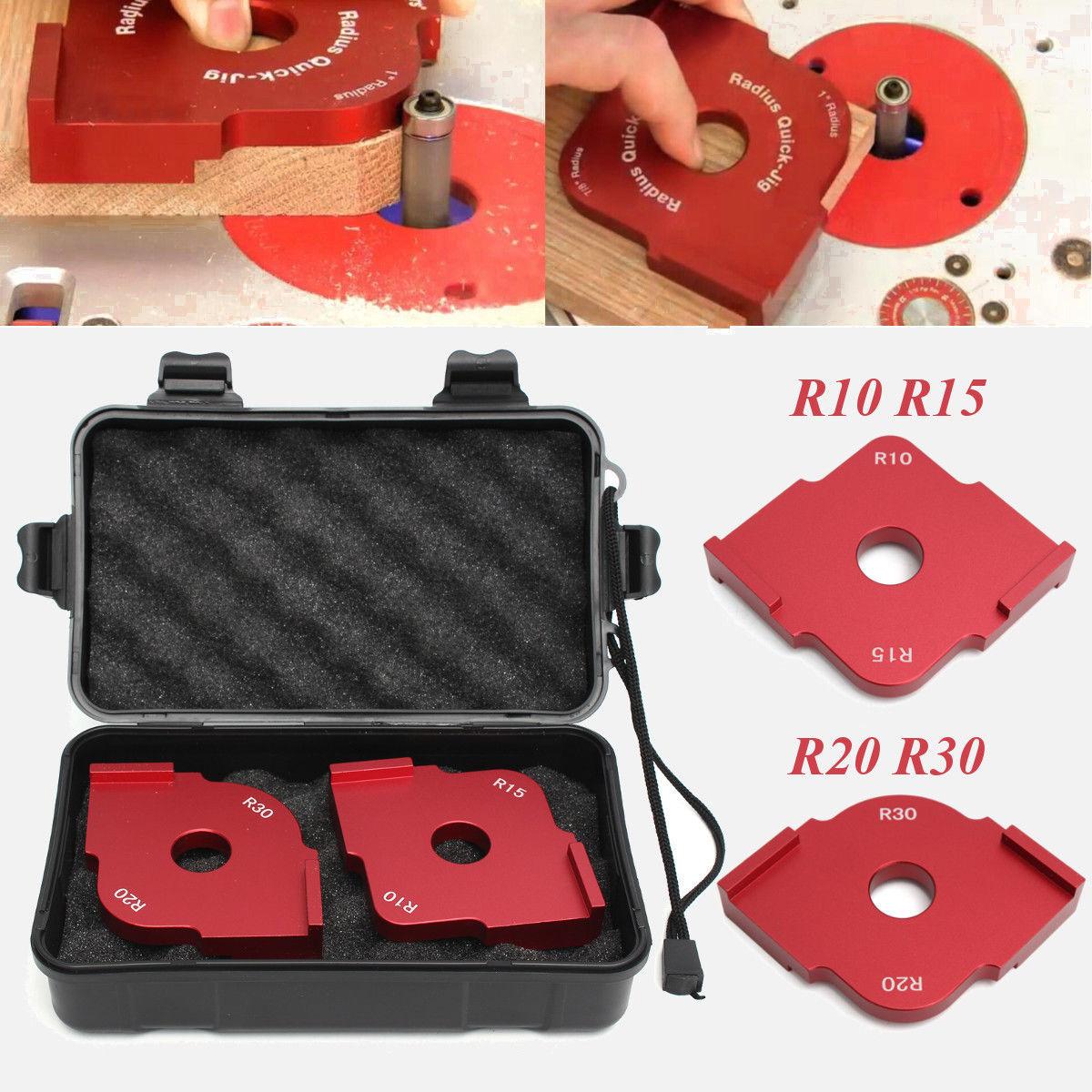 Wood Radius Quick Jig Router Table Corner Template R10 R15 + R20 R30 + Box ToolWood Radius Quick Jig Router Table Corner Template R10 R15 + R20 R30 + Box Tool