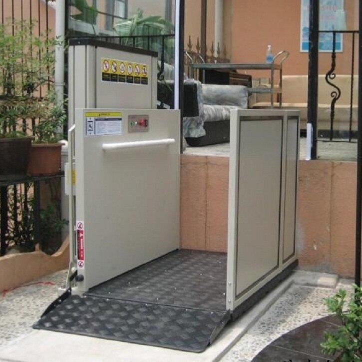 Plataforma de eleva o vertical para deficientes elevador for Escalera discapacitados