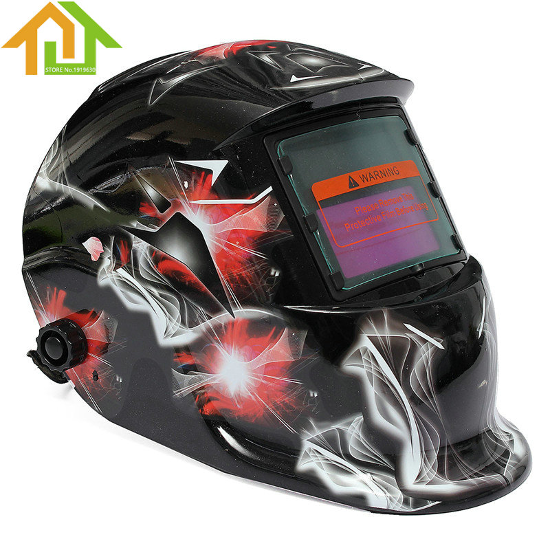 Solar Power Auto Darkening Arc TIG MIG Grinding White Skull Welding Helmet Welders Mask wedling tool football pro solar auto darkening shading tig mig mma arc welding mask helmet welder cap for welding machine