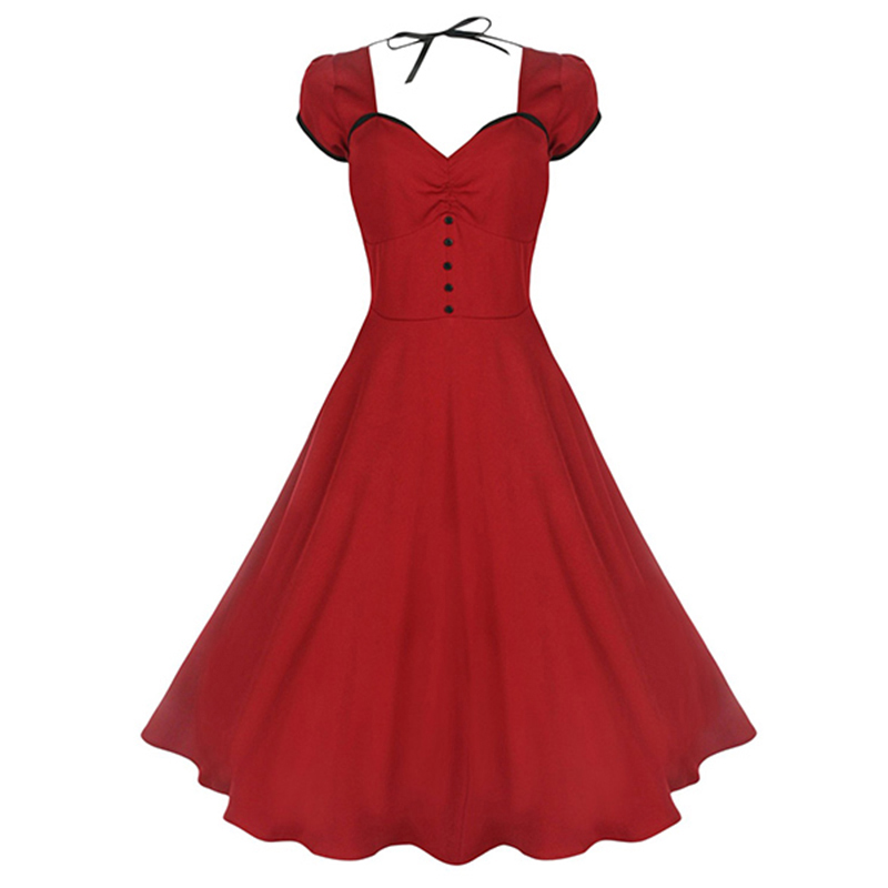 Sisjuly 50s vintage red classic Dress HTB177alvQCWBuNjy0Faq6xUlXXaz