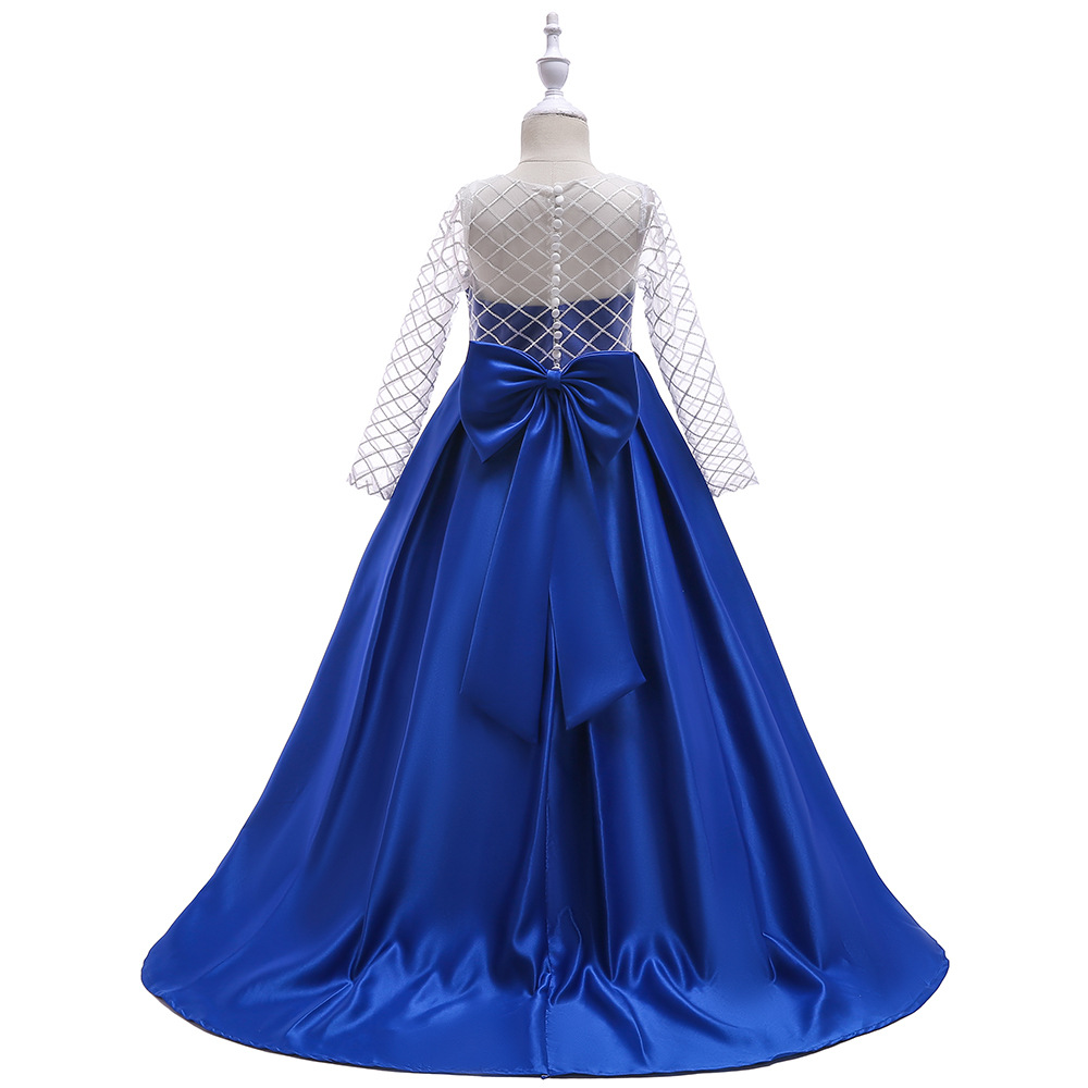 Satin Pink Flower Girl Dresses Floor Length Girls Pageant Dresses First Communion Dresses Wedding Party Dress
