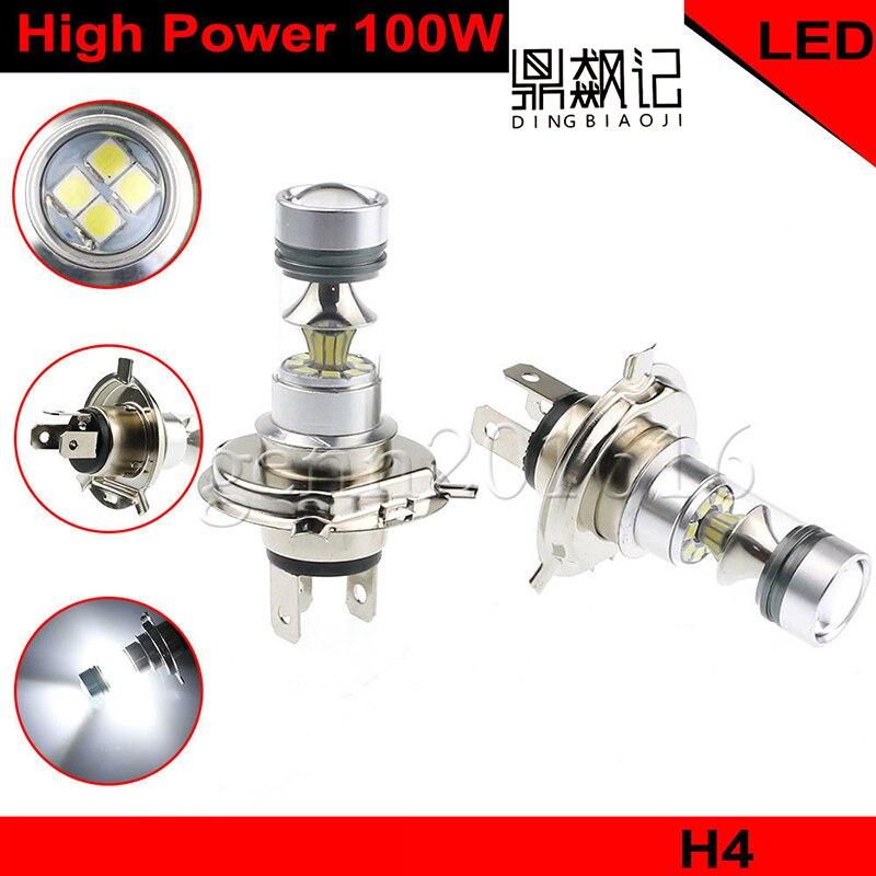 2 pcs H4 fog light bulb 100W 1200LM 6000K white car driving daytime Running font b