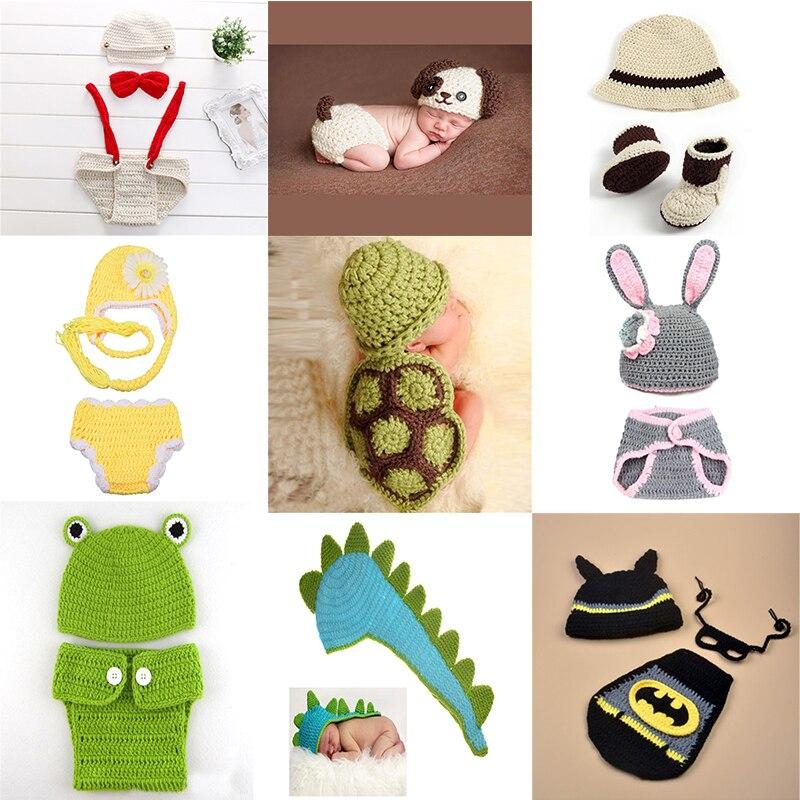 Bébé Filles Garçon Nouveau-Né 0-1 Mois Tricot Crochet Minnie Vêtements Photo  Prop fa8c7c44f15