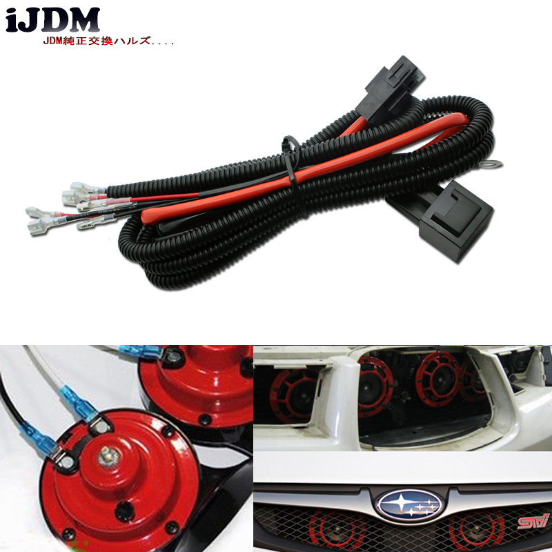 US $10.19 15% OFF|iJDM 12V Horn Wiring Harness Relay Kit For Car Truck on