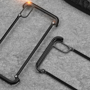 Image 2 - Original Oatsbasf aluminium métal pare chocs étui pour iphone X XS XS MAX XR luxe dur antichoc goutte Protection étui pour iphone 11