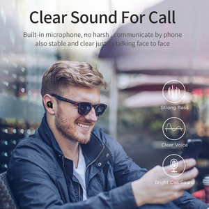 Image 5 - AWEI T5 TWS Bluetooth Earphone Headphone With Mic True Wireless Earbuds Bluetooth 5.0 Headset With Charge Case For iPhone Xiaomi