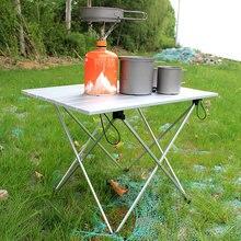 Портативный Открытый барбекю Кемпинг пикника алюминиевый сплав складной стол портативный легкий Противоскользящий Мини Прямоугольный Стол