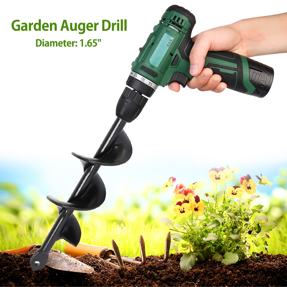 9 Inch Garden Auger Drill Bit Planting Irrigation Weeding Steel Tool for Electric Hammer and Water Borer Electrical9 Inch Garden Auger Drill Bit Planting Irrigation Weeding Steel Tool for Electric Hammer and Water Borer Electrical