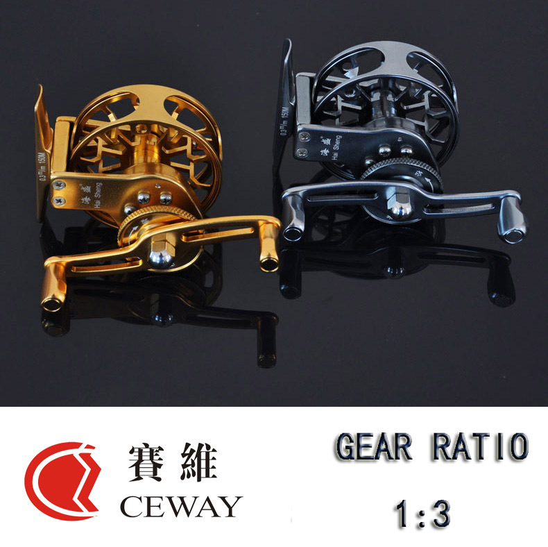 Winter reel hp 55 ceway ceway all metal fish coil for New ice fishing gear 2017
