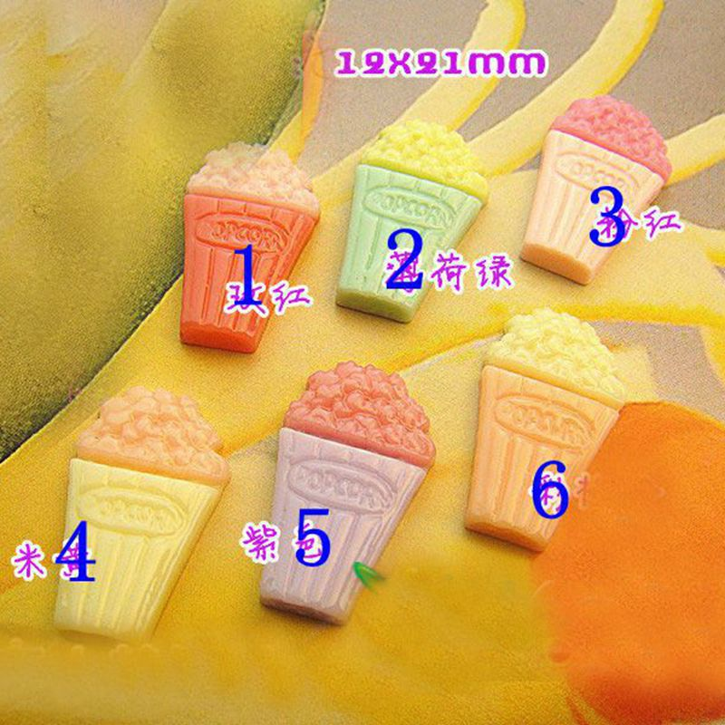 Fashion mini resin Cream ice cream manicure nail decals DIY accessories (14*13mm 19*91mm) 48pcs/bag 11 color optional 9619.3