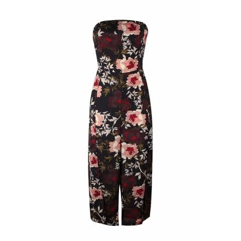BUYSD Women Off Shoulder Floral Print Sexy Jumpsuits Wide Leg Pants Backless Strappy Playsuits Summer Causal Rompers Bodysuits Lahore