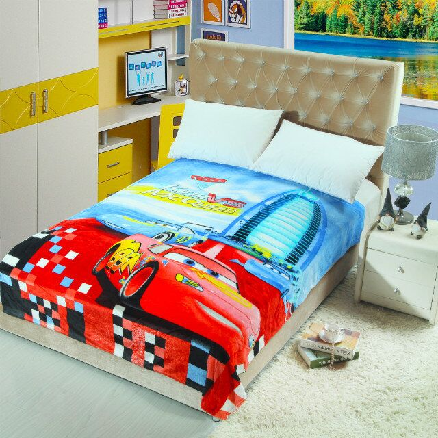 Red Lightning McQueen Cars Blankets Throws Bedding 4040CM Size Cool Kids Blankets And Throws