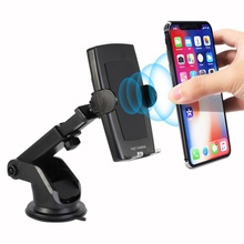 10W Car Wireless Charger Phone Fast Charging With Air Outlet Clip+Suction Cup Bracket For SamSung S10 S9 iPhone X XR XS Xiaomi 9