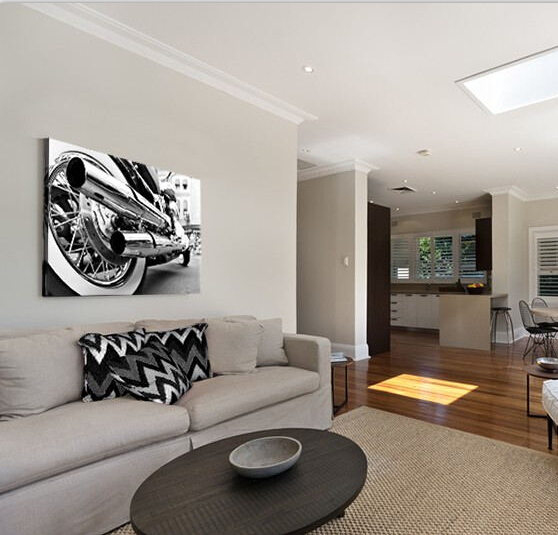 framed artwork for living room ideas ikea furniture modern silver motorcycle art paintings pictures canvas print large wall