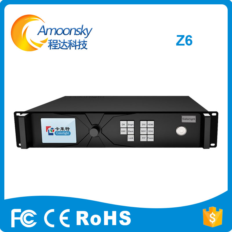 Colorlight Z6 super master for small pixel led display with 4 sdi 4 dvi input max support 3840*2160
