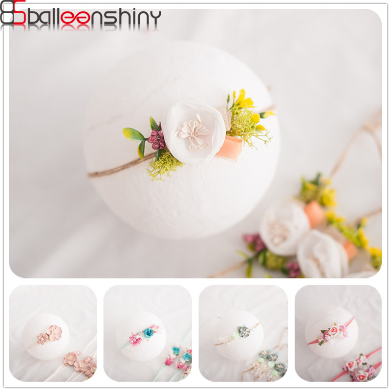 BalleenShiny Infant Flower Headband Sweet Newborn Baby Photography Prop Hair Wrap Children Headwear Accessories