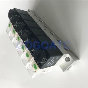 Image 3 - 2 vie valvola 6 W Pneumatico In Alluminio solenoide valvola set 2V025 06/08 Porta 1/8 1/4 BSP raccordi pushfit 6mm valvola elettrica collettore