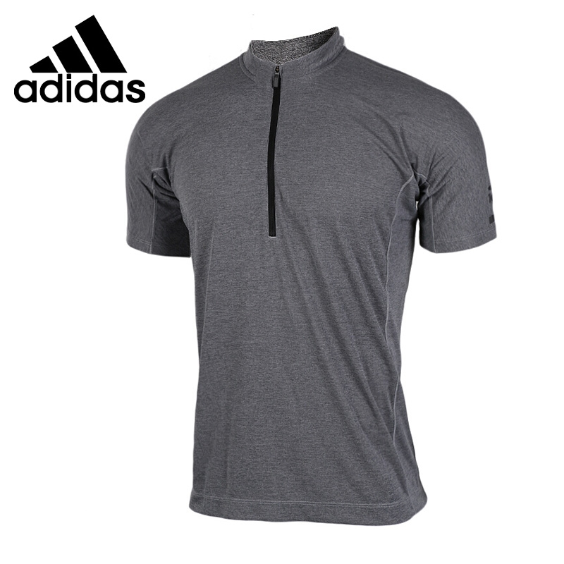Original New Arrival 2017 Adidas CLMCH 1/2 TEE Men's T-shirts short sleeve Sportswear genuine leather cowhide men s casual shoes spring autumn fashion men classic handmade lace up flats comfortable soft bottom shoe