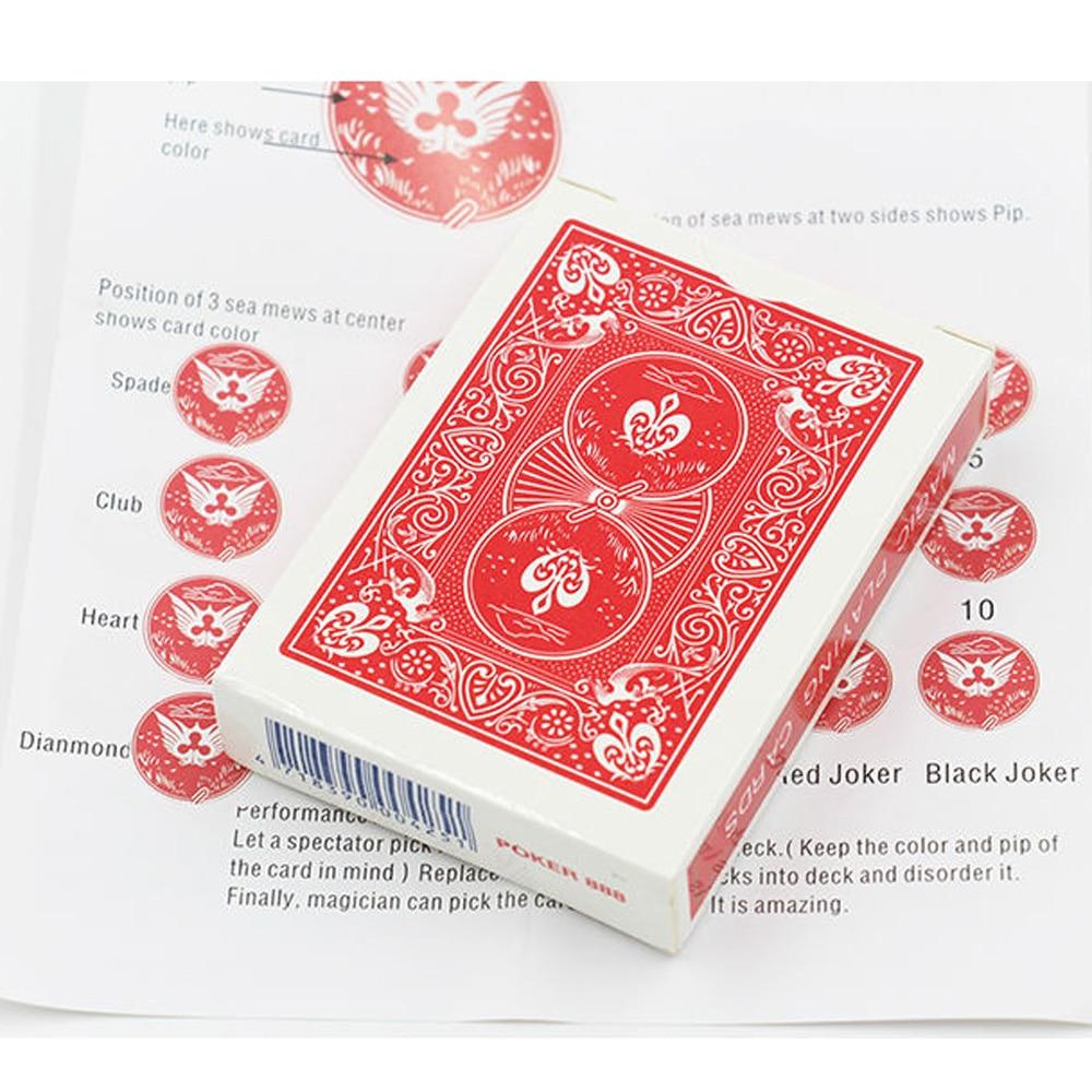 1 قطع بطاقة سحرية الخدع السحرية ملحوظ سطح قرب السحر الدعامة حيلة الساحر خدعة سهلة للقيام