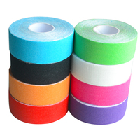 24Pcs Waterproof Elastic Kinesiology Muscles Tape Sport Fitness Strain Injury Guard Muscles Care Adhesive Tape Strap 2.5cm*5m