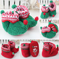 Baby Snow Boots Boys Girls Warm Shoes Toddlers Winter Soft Plush Footwear Halloween Christmas Party costume Gift Free Drop Ship