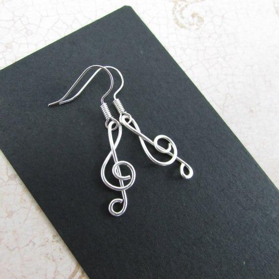PINJEAS Treble anneau de Clef Rose fait à la main Note de musique G Clef fil enroulé bague damitié musicien idées cadeaux bijoux