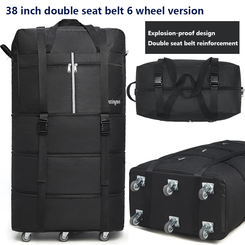 Image 5 - 158 air consignment baggage large capacity study abroad suitcase aircraft consignment Cardan wheel folding baggage-in Travel Bags from Luggage & Bags