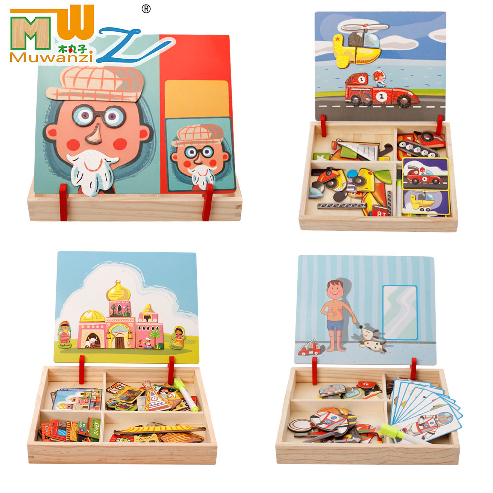 Children's Educational Toys Magnet 3D Puzzles Toys Gift For Baby Children Funny Toys Shipping From Russia