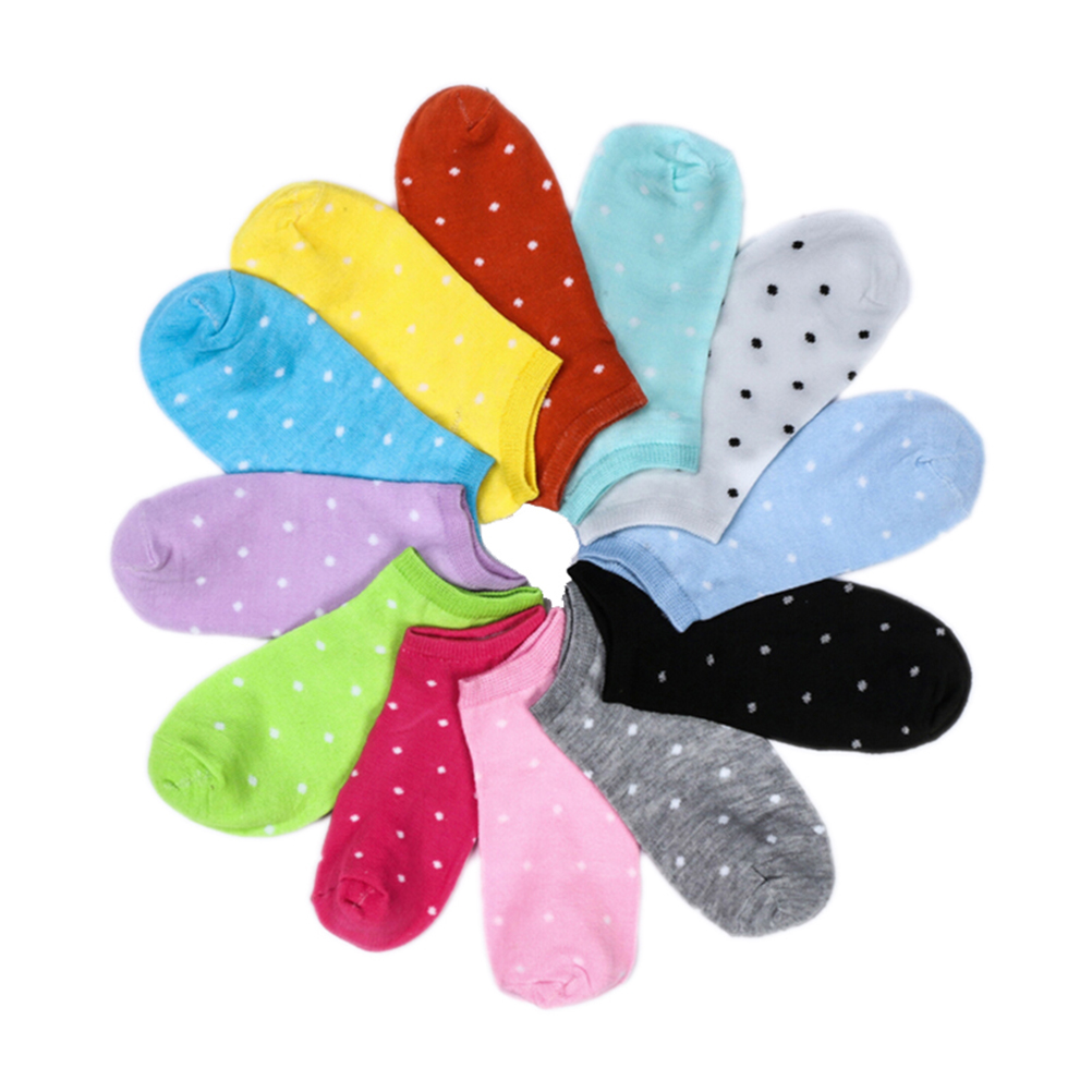 HTB177drOFXXXXcVXpXXq6xXFXXX3 - 5 Pairs Heart Dot Solid Girl Female Lady Socks For Women's Socks