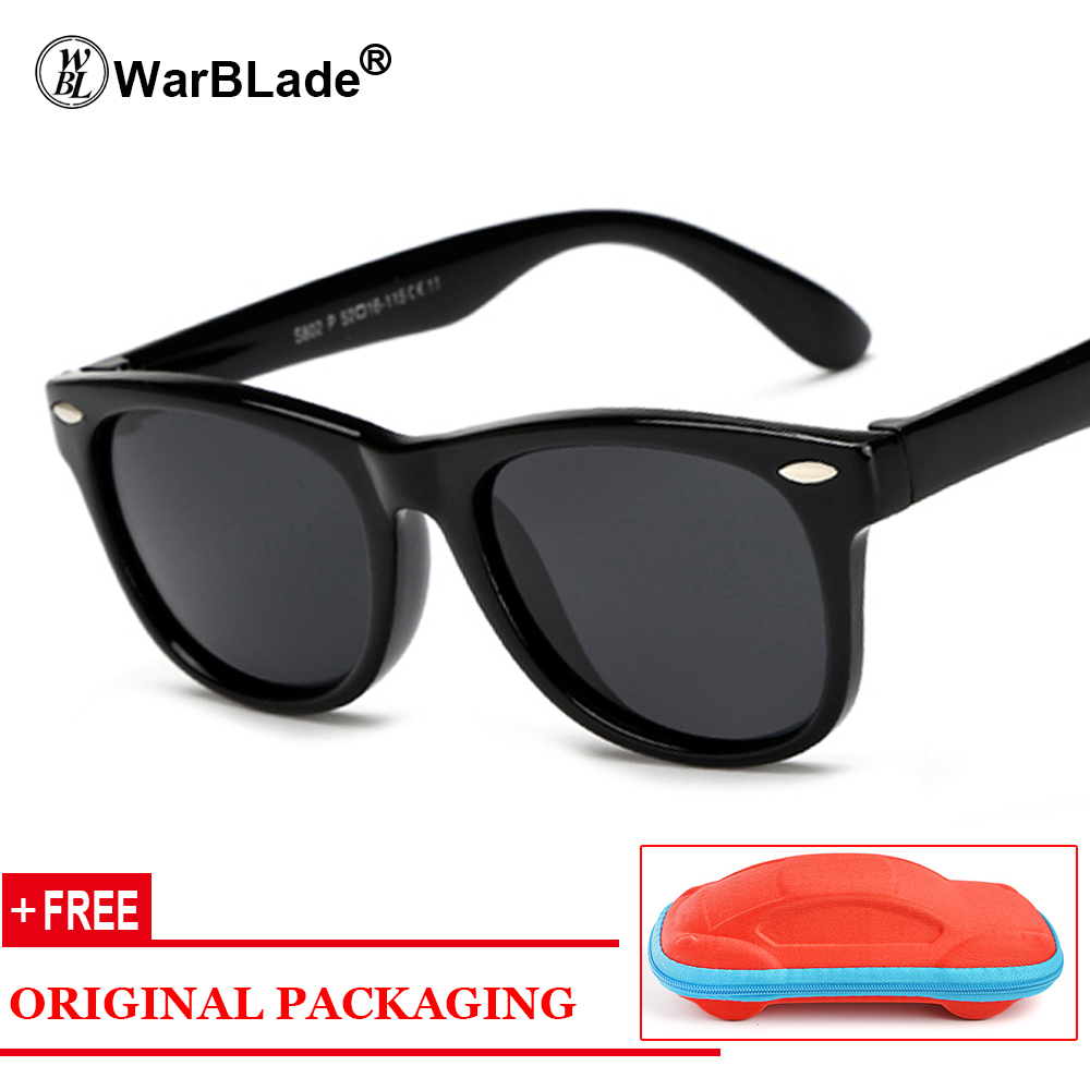 Children Square Polarized Silicone Sunglasses Safe Sun Glasses Uv400 Coating Mirror Lentes De Sol Mujer Girls Boys Girl's Sunglasses