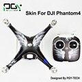 2016 NOVA PGY phantom4 DJI Fantasma 4 3 M À Prova D' Água Adesivos de Pele PVC profissional Zangão Quadcopter peças acessórios