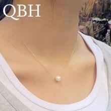 NK134 Новая мода минималистичный короткий Искусственный Жемчужный шар кулон ожерелье милые ключицы ожерелья для женщин цепочка дешевые ювелирные изделия