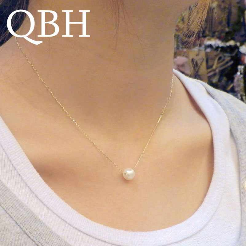 NK134 New Fashion Minimalist Short Simulated Pearl Ball Pendant Collares Cute Clavicle Necklaces For Women Chain Cheap Jewelry