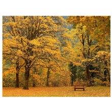 Топ предложения фотографии фонов реквизит для фотосессии листья Живописный фон осень винил 7x5FT