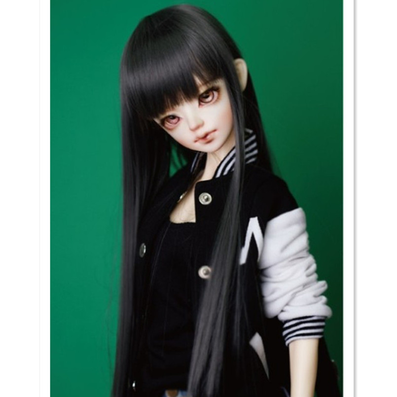 1/3 1/4 Bjd SD Doll Wigs High Temperature Wire Long Straight Wig BJD Super Dollfile Hair Wig Accessories for Dolls Good Quality fashion black hair extension fur wig 1 3 1 4 1 6 bjd wigs long wig for diy dollfie