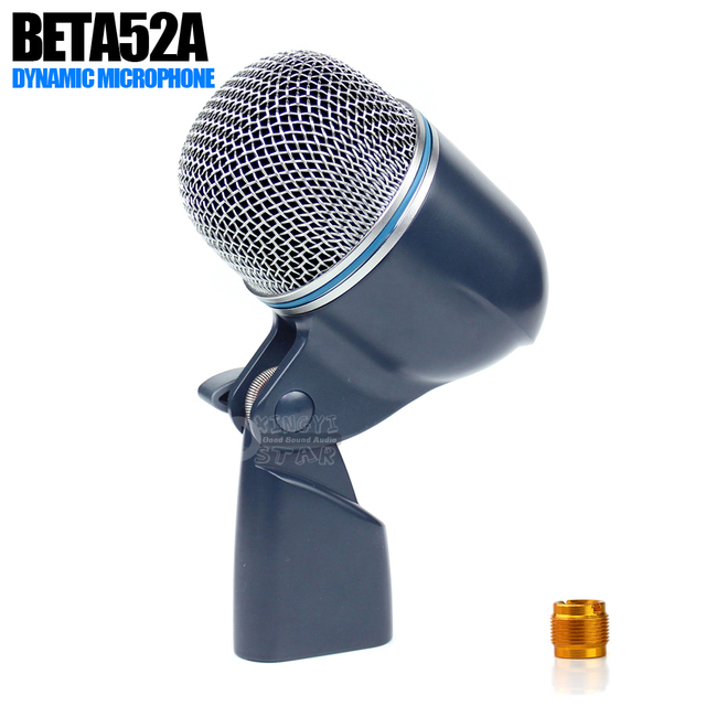Professional BETA 52A 52 Kick Drum Microphone For BETA52A Instrument Bass Amplifier Live Show Stage Studio Percussion Snare Mic