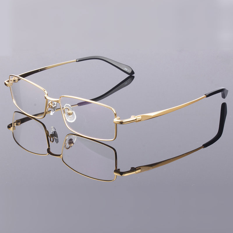 Image 3 - Handoer Men Eyeglasses Frame Pure Titanium Optical Glasses Prescription Spectacles Full Rim Eyewear Metal Frame Glasses Frame-in Men's Eyewear Frames from Apparel Accessories