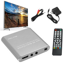 1080P медиа хост Мини MMC Домашнее аудио USB плавное декодирование MKV AVI легкий Full HD HDD плеер карта памяти чтение AV HDMI