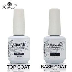 Saviland 15 ml Soak Off Verniz Gel Profissional polonês Gel Base e Top Coat Vernizes Primer Nail Art Gel Uv unha Polonês