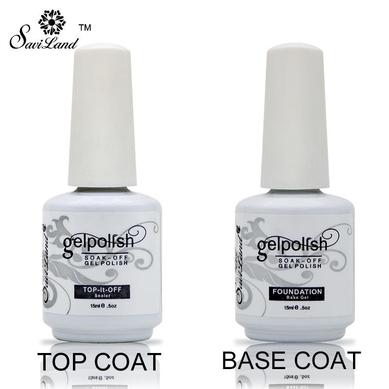 Saviland Soak Off Gel Lacquer Professional 15ml Gel Polish Base And Top Coat Varnishes Primer Nail Art Uv Gel Nail Polish