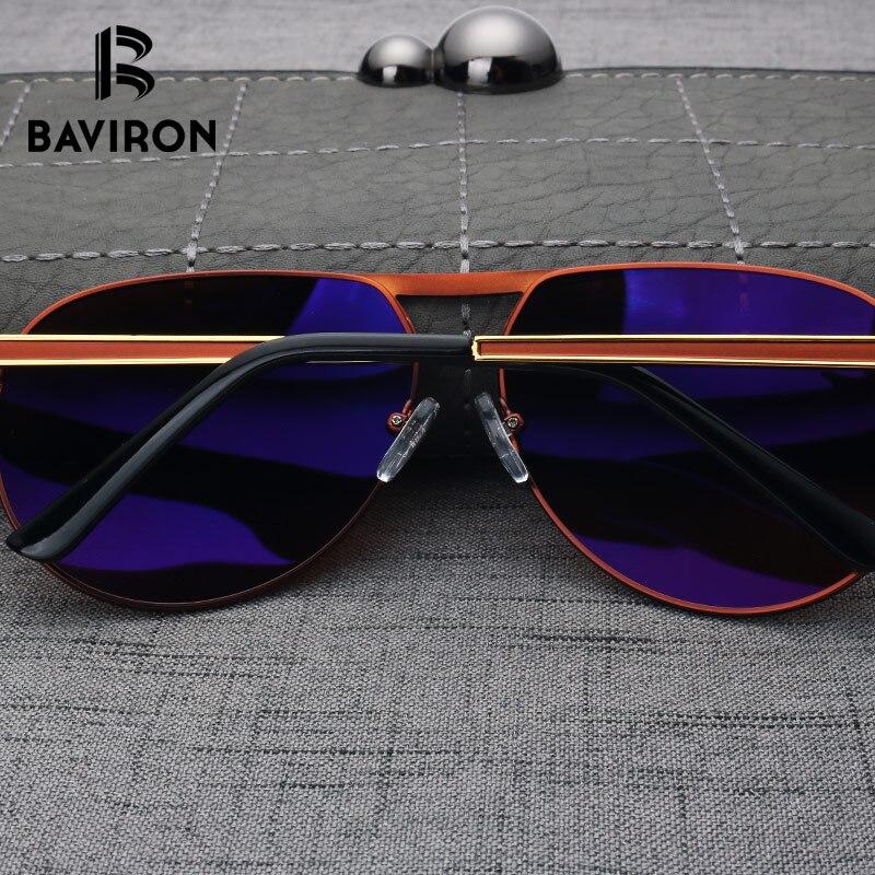 a3e4680c426 BAVIRON Brand Designer Pilot Sunglasses For Men Polarized Blue Film Inside  Driving Glasses 2018 New Cool Street Style Glasses-in Sunglasses from  Apparel ...