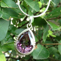 Heavy recommend Amethyst Dripping water wears through a stone. shape 925 Nepal hand inlaid silver
