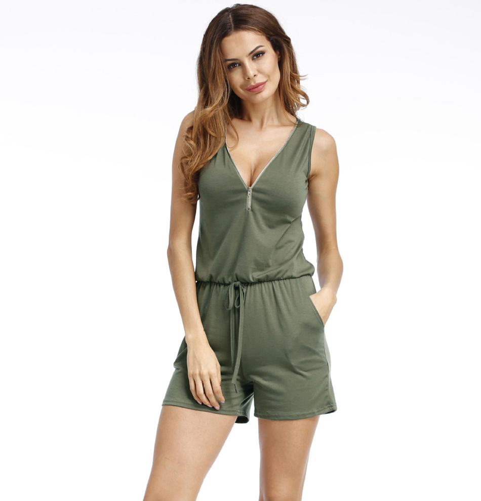 Women Summer Rompers Womens Jumpsuit Beach Casual Playsuits Plus Size Jumpsuit For Women 2018 Beach Shorts Pants 5XL Sleeveless 1