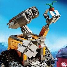 Yeni Fikirler Serisi Duvar Elovable Sarı Robot WALL-E Modeli Yapı Tuğla Blok Akıllı Eğitici Oyuncaklar Noel Hediyesi