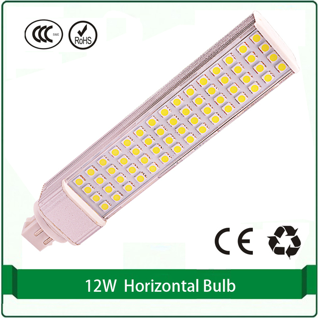 Horizontal Plug light 12W LED bulb G24q 4 pin plug in led bulb light PLC plug light horizontal light