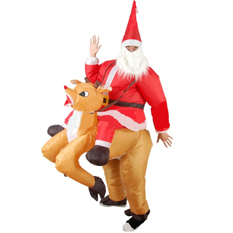 Inflatable Costume For Men Women Christmas dress Fan Funny Ride on me Christmas Gift Inflatable Costume For Adults Cosplay