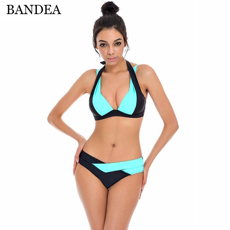 a7b016039b BANDEA 2017 New Style Bandage Bikini Sexy Women Swimsuit Bathing Suits  Swimwear vintage Push Up Women Sexy Beach Bikini Set S-XL ...
