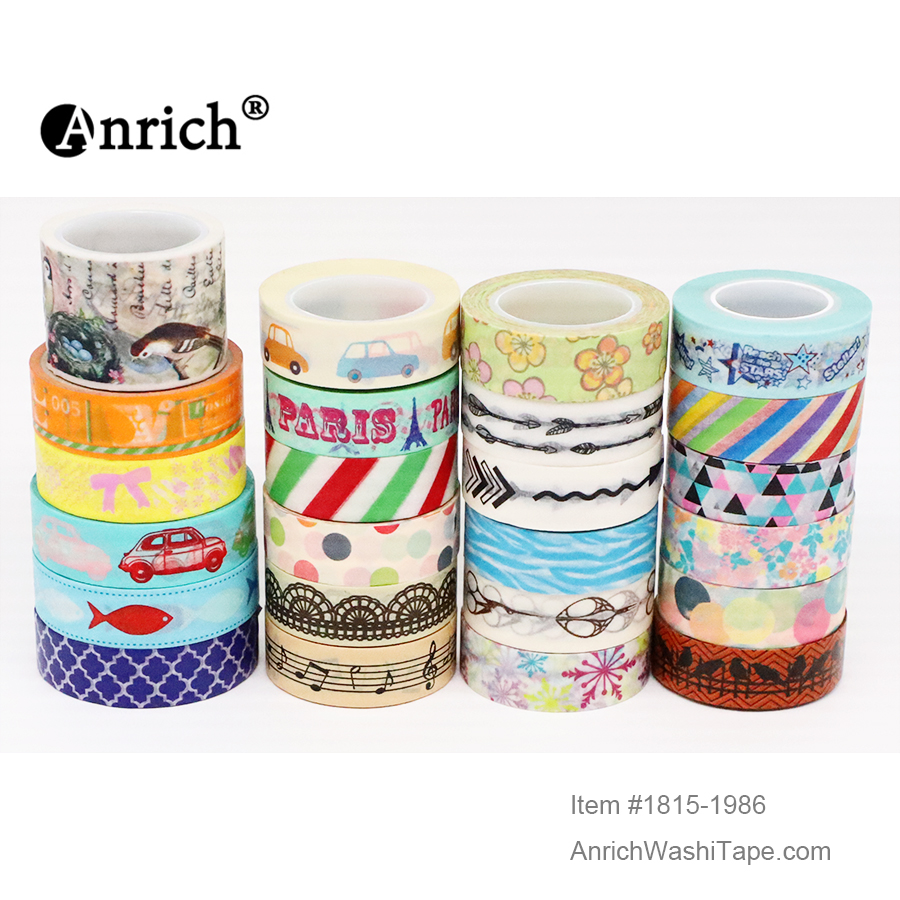 Free Shipping And Coupon Washi Tape,Anrich Washi Tape #1695-#1996,basic Design,colorful,customizable
